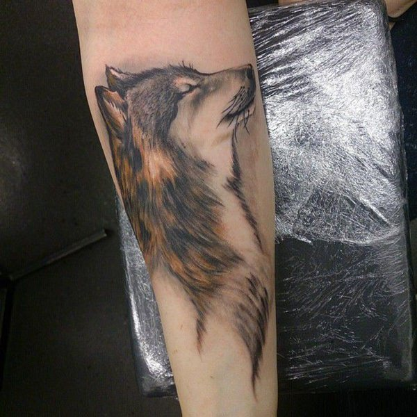 Hyper Realistic Wolf Tattoo