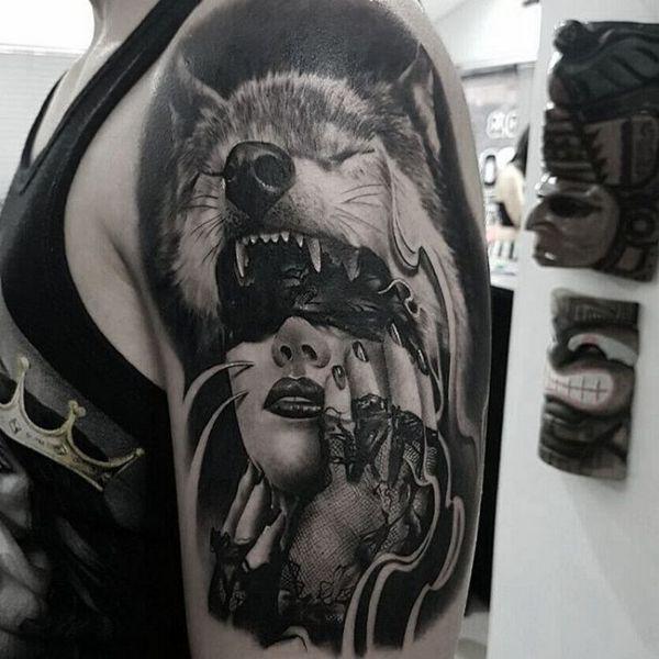 Native American Wolf Girl Tattoos