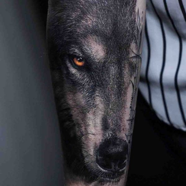 Real Wolf Tattoo