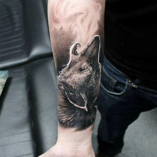 Realistic Wolf Tattoos