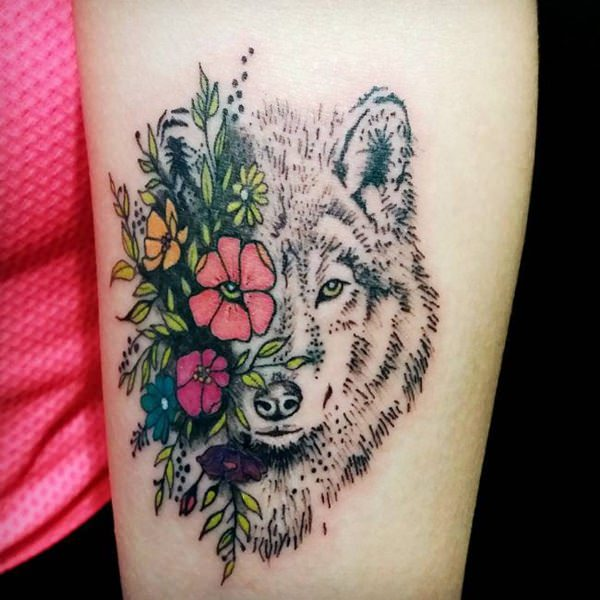 Small Wolf Arm Tattoos
