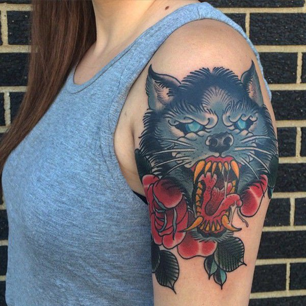 Tiny Wolf Tattoos For Women