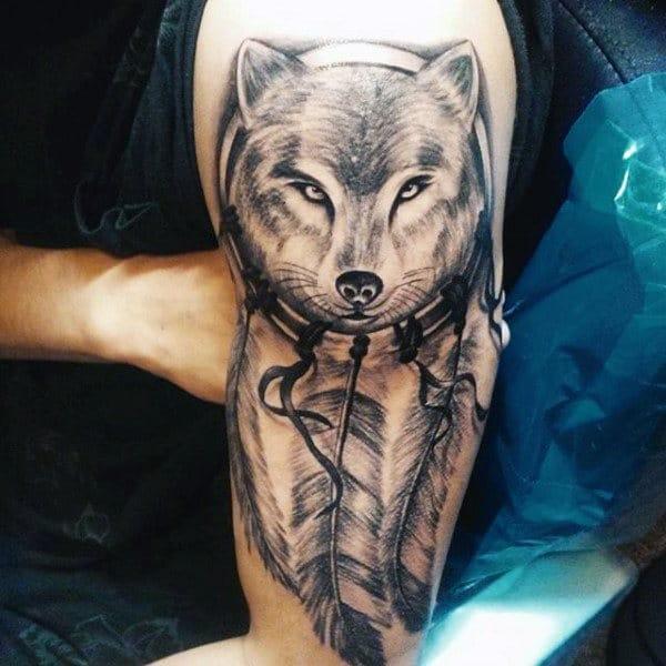 Wolf Dreamcatcher Tattoo Pics