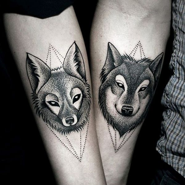 Wolf Tattoo Designs For Couples