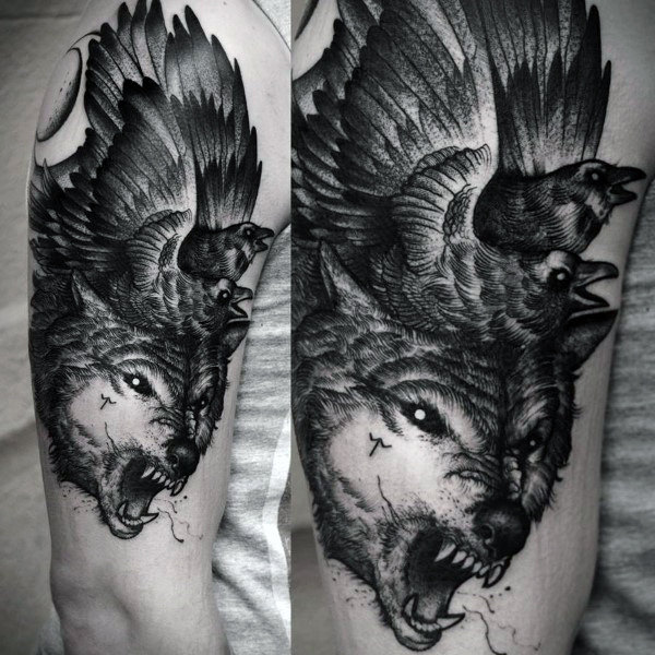 Wolf Tattoos For Men Meaning