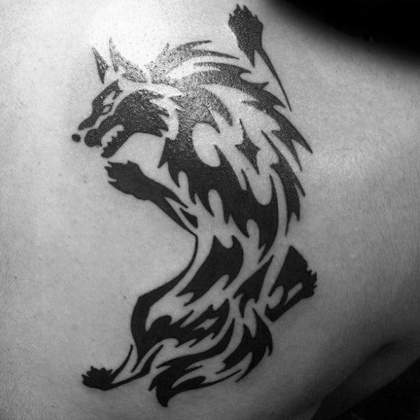 Wolf Tribal Tattoos Gallery