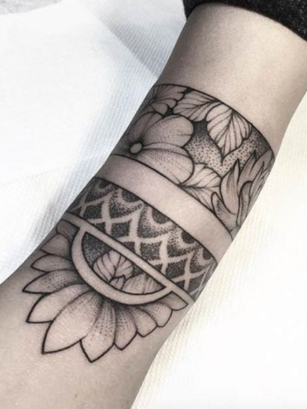 Flower Armband Tattoos