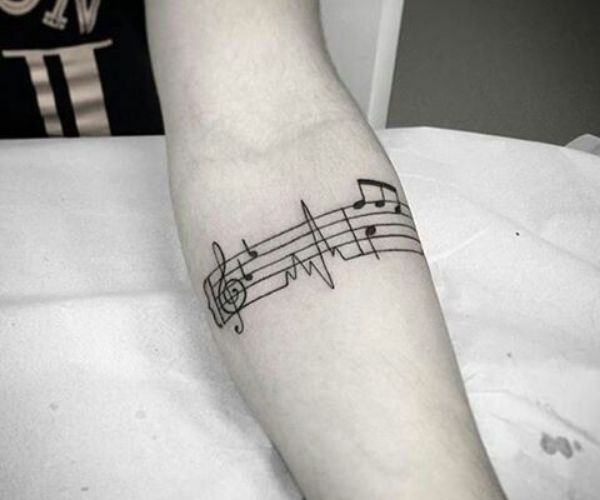 Music Note Armband Tattoos
