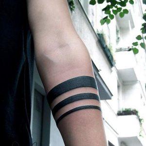 Line Armband Tattoos