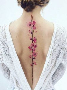 Cherry Blossom Vine Tattoos