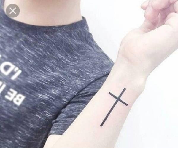 Simple Cross Tattoo
