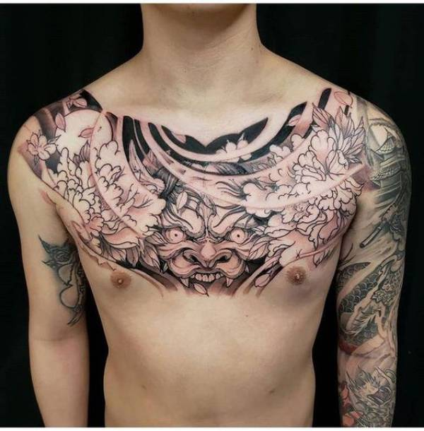 Japanese Chest Tattoos
