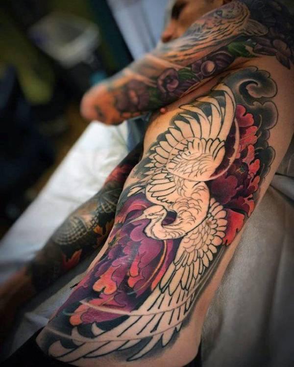 Japanese Crane Tattoos