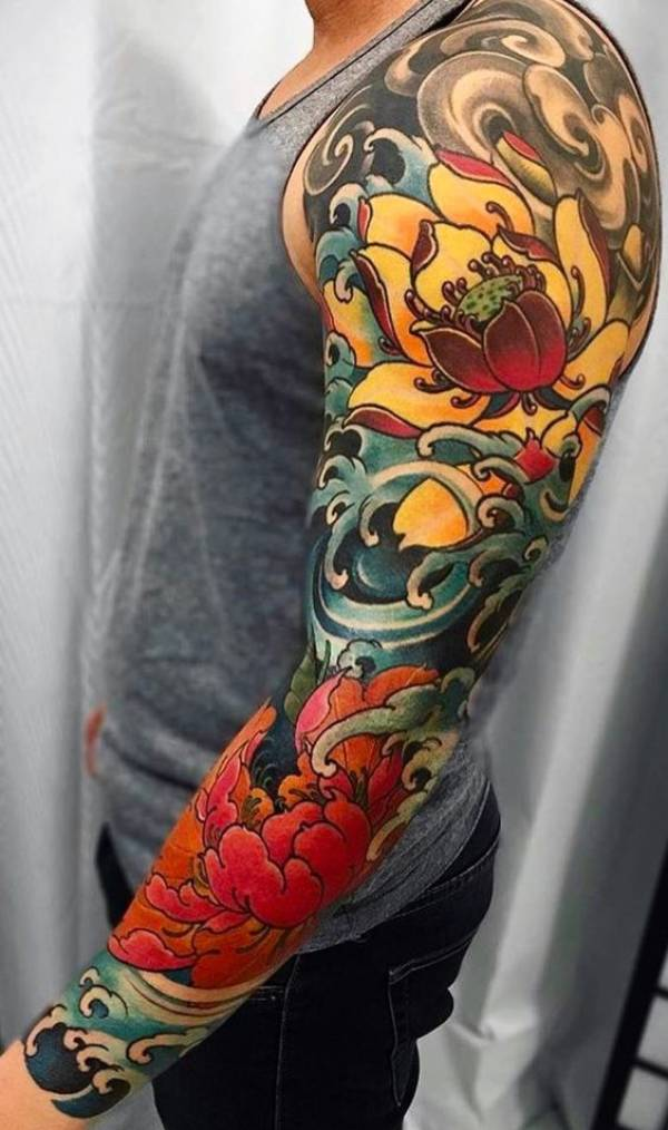 Japanese Flower Tattoos Designs