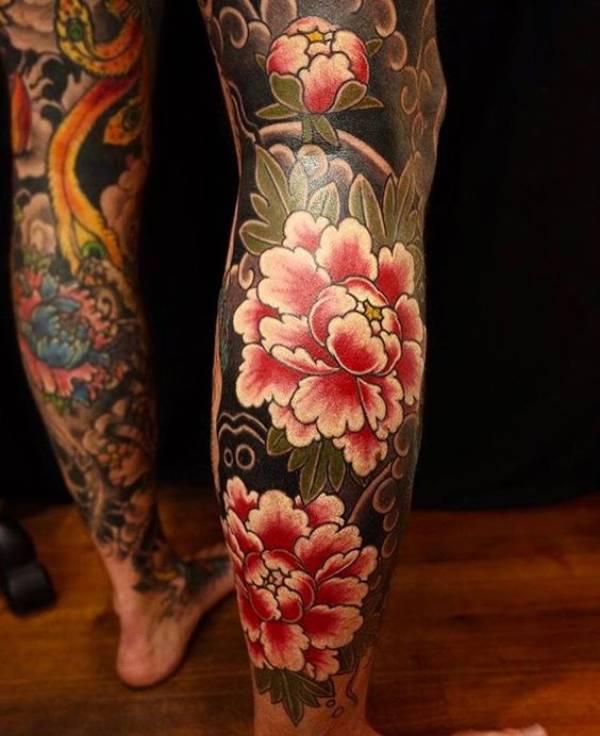 Japanese Peony Tattoos