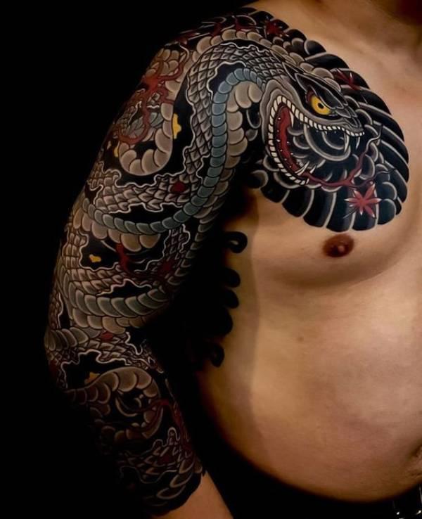 Japanese Tattoos Snake