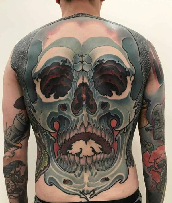 Japanese Upper Back Tattoos