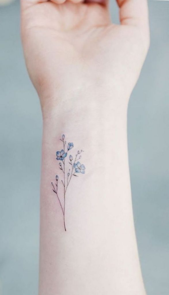 Dainty Flower Tattoos