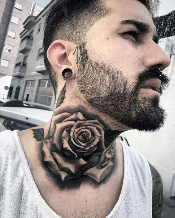 Flower Neck Tattoos