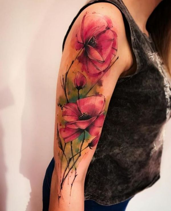 Flower Sleeve Tattoos