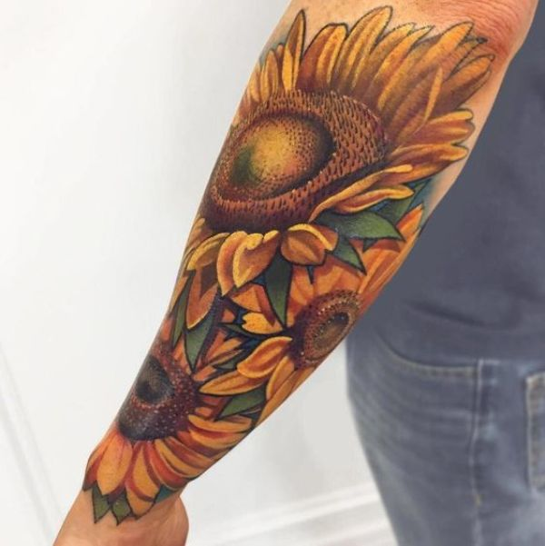 Half Sleeve Flower Tattoos