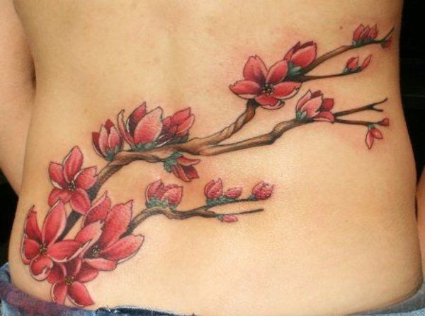 Lower Back Flower Tattoos