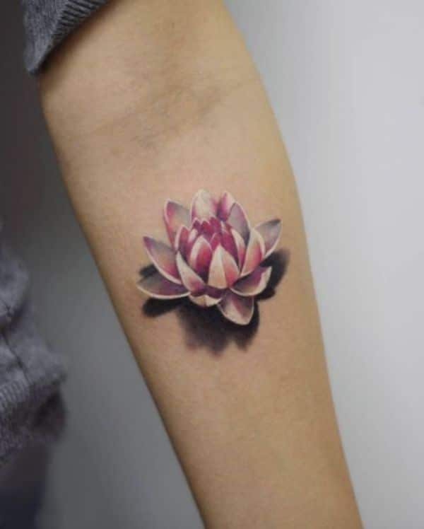Realistic Flower Tattoos