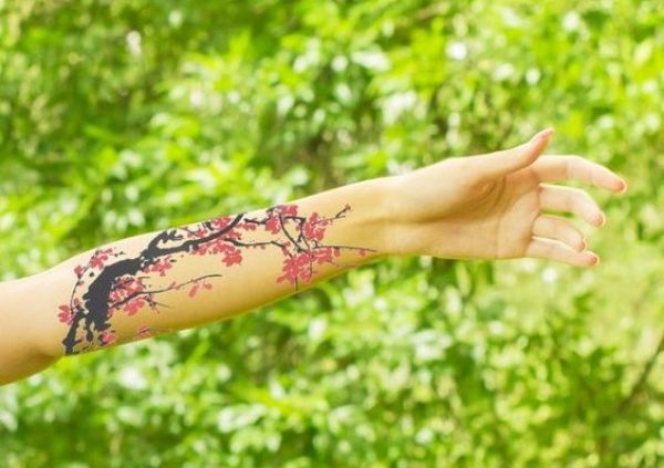 Temporary Flower Tattoos