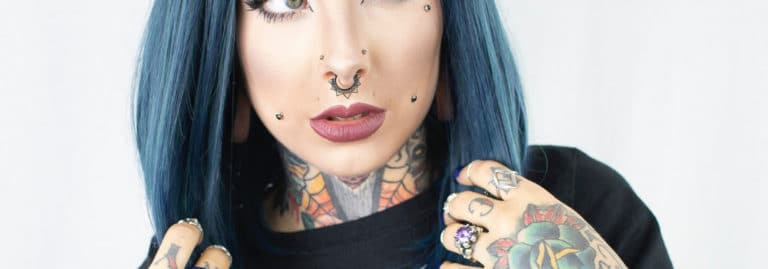 sexy dimple piercing