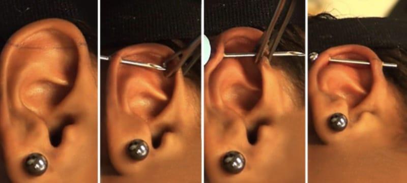 industrial piercing procedure pain