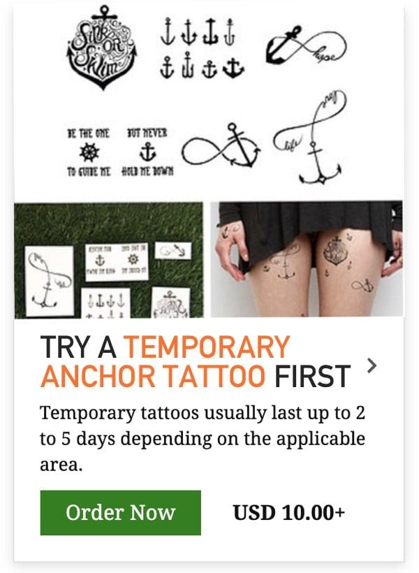 temporary anchor tattoo