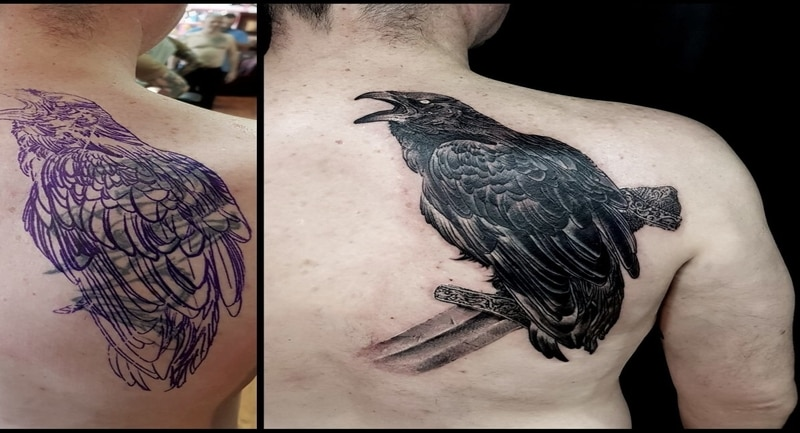tattoo cover before after